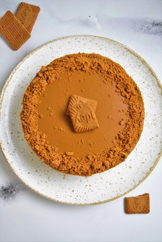 Cheesecake sans cuisson aux spéculoos et pâte de spéculoos