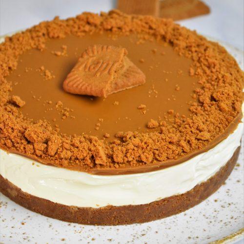 Cheesecake sans cuisson au spéculoos