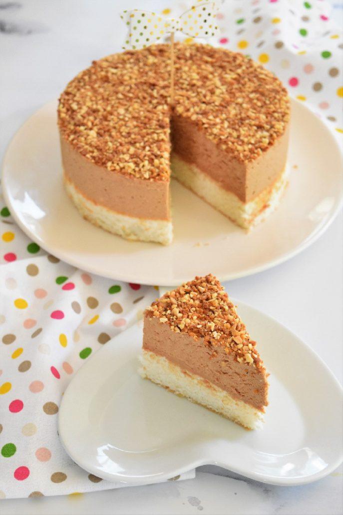 Gâteau mousse pralinée