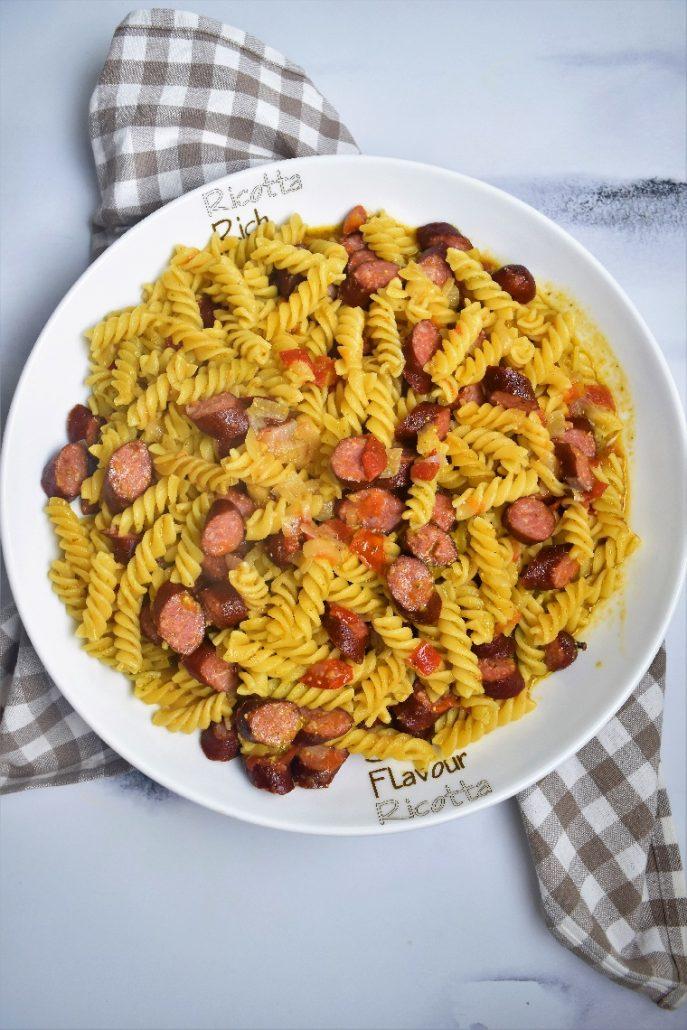 One pot pasta pesto et saucisses au Cookeo