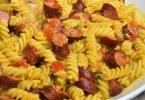 Pâtes au pesto et saucisses avec Cookeo