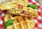 Pizza gaufre jambon fromage