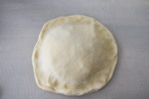 Gaufre fourrée façon pizza
