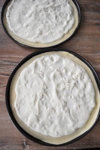 Sauce blanche au citron pour pizza saumon