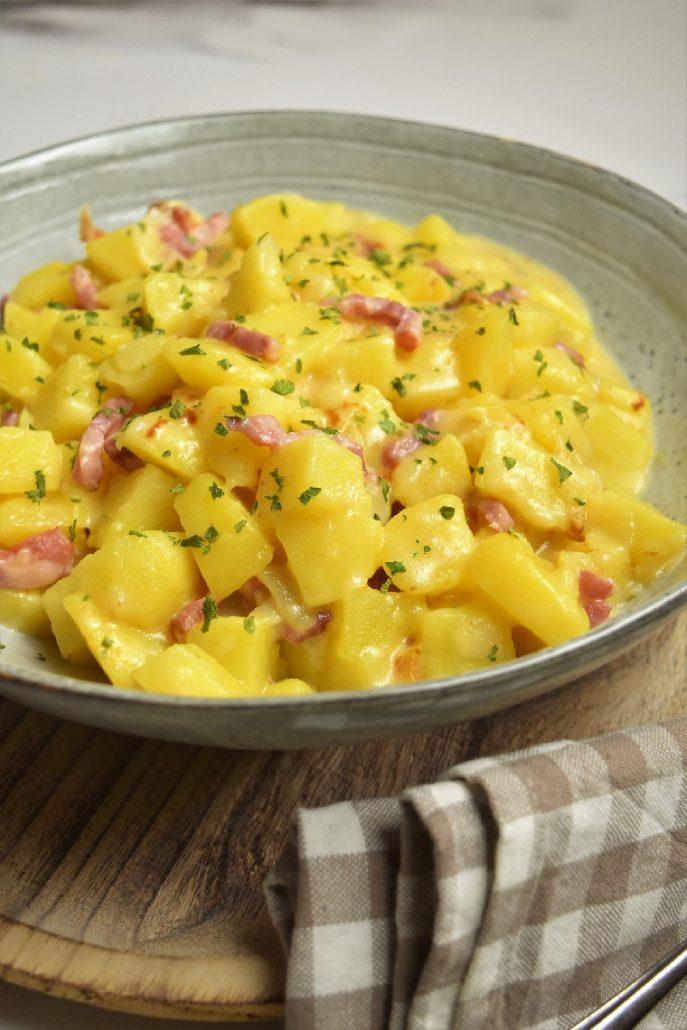 Pommes de terre aux lardons avec Cookeo