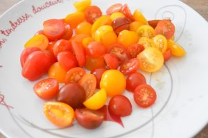 Tomates cerises pour salade composée