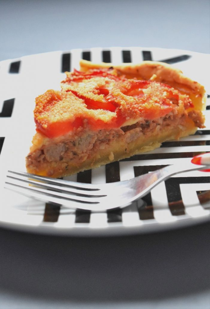 Tarte façon tomate farcie
