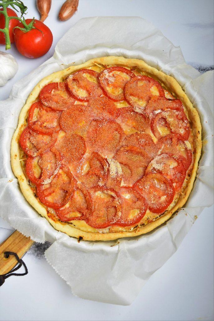 Tarte à la tomate et viande hachée