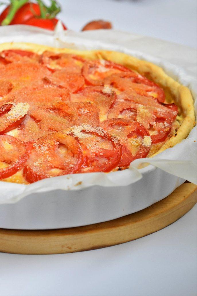 Tarte à la tomate et farce à légumes