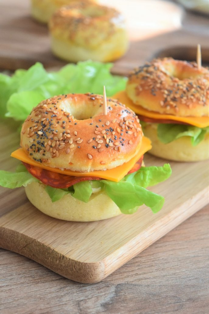 Bagels chorizo fromage