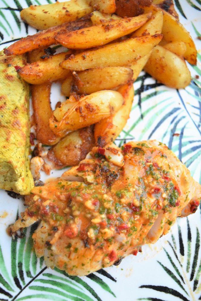 Cabillaud sauce chermoula et potatoes maison