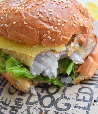 Fish burger sur plancha