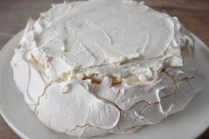 Meringue à pavlova et chantilly mascarpone vanille