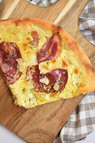 Pizza carbonara maison