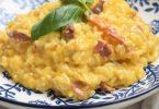 Risotto à la mimolette et jambon cru