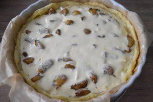 Crème mascarpone aux oeufs pour tarte à l'ail