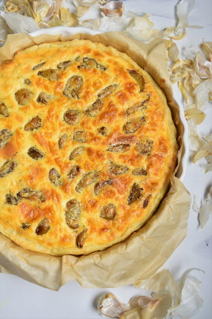 Tarte à l'ail et fromage