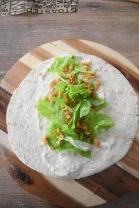 wrap salade oignon frit
