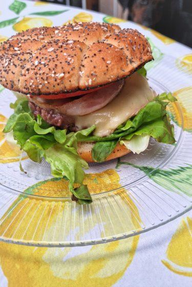 Hamburger préparé à la plancha