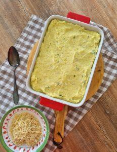 Brandade gratinée au fromage et à la chapelure