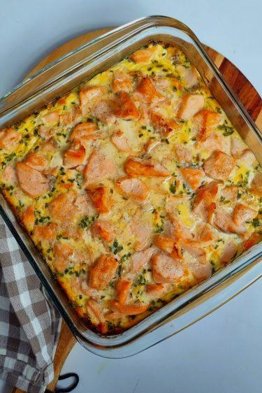 Flan au saumon et épinards