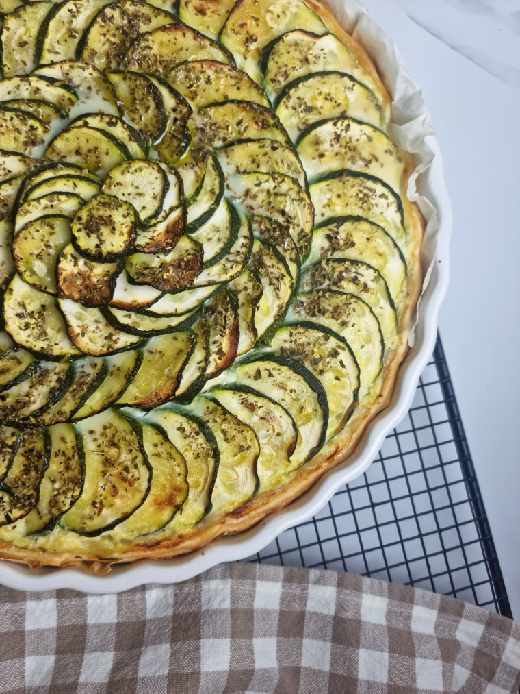 Tarte courgette ricotta fromage ail et fines herbes