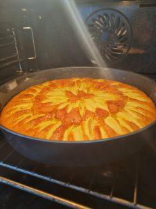 Cuisson au four de la tarte suisse aux pommes