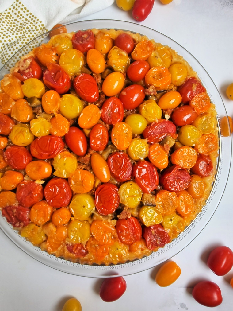 Tatin salée aux tomates et chorizo