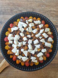 Tatin de tomates cerises à la mozzarella