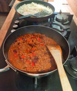 Réchauffer le chili con carne