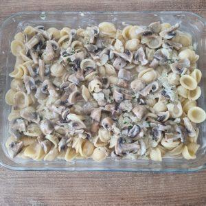 Pâtes à la crème aux champignons